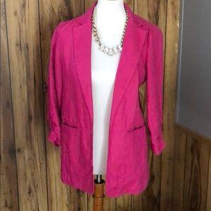 Michael Kors • Pink Linen Blazer